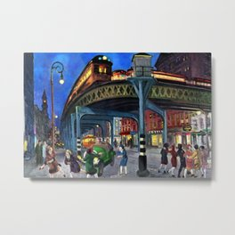 Classical Masterpiece 'Sixth Avenue Elevated at Third Street' New York City by John Sloan Metal Print