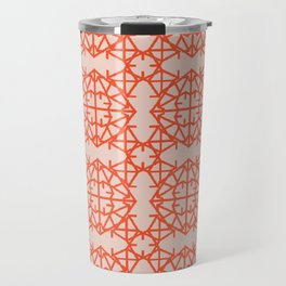 Diamond Bugs Pattern Flame - Pale Dogwood Travel Mug