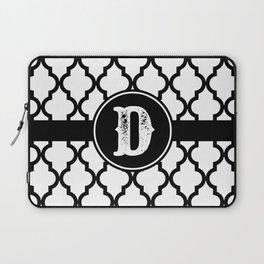 Black Monogram: Letter D Laptop Sleeve