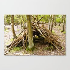 Hideaway in the forest Canvas Print
