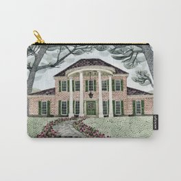 House With Tulips Carry-All Pouch