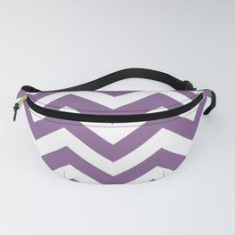 Pomp and Power - violet color - Zigzag Chevron Pattern Fanny Pack