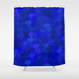 Jellyfish-BLUE Shower Curtain
