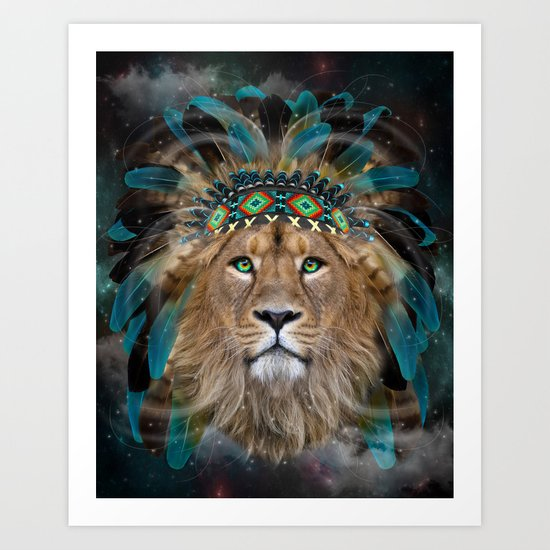 Fight For What You Love (Chief of Dreams: Lion) Tribe Series Art Print