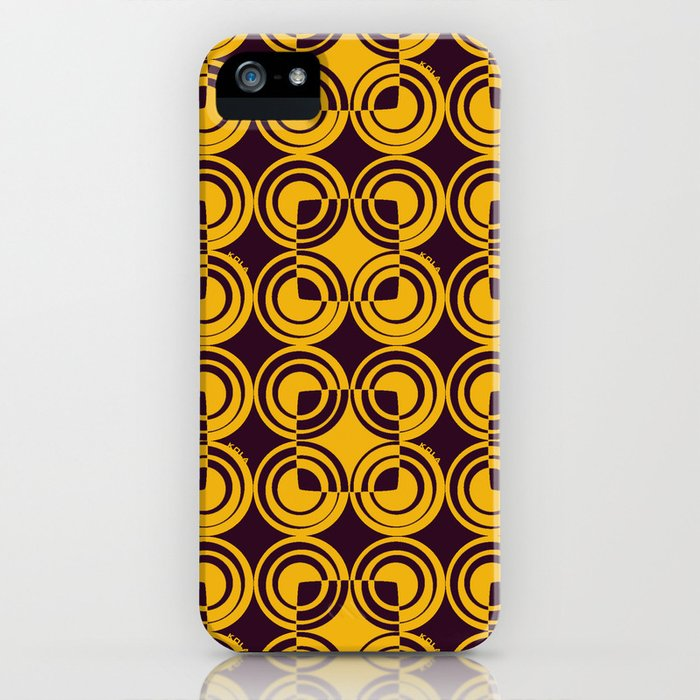 Circles Abstraction iPhone Case