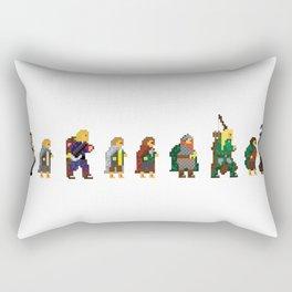 8-bit Fellowship Rectangular Pillow