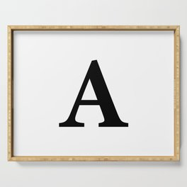 Letter A Initial Serving Tray