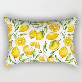 lemon watercolor print Rectangular Pillow
