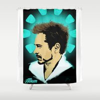 stark Shower Curtains featuring Tony Stark. by Tomcert