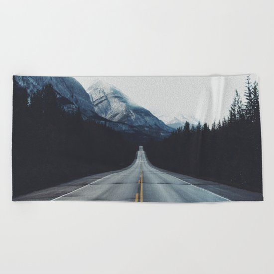 Mountain Road #forest Beach Towel