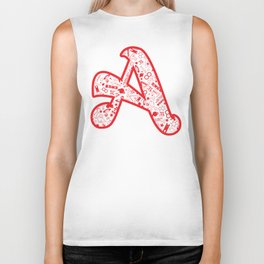 Scarlet A - Version 2 Biker Tank