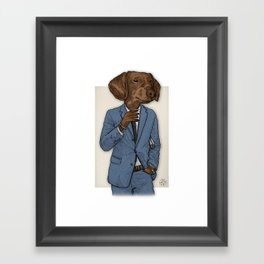 Good Morning, Dapper Doge Framed Art Print
