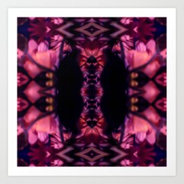Bloomed Deep Kaleidoscope Collage Art Print