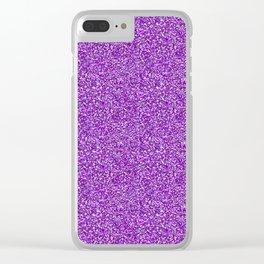 Purple Moondust Glitter Pattern Clear iPhone Case