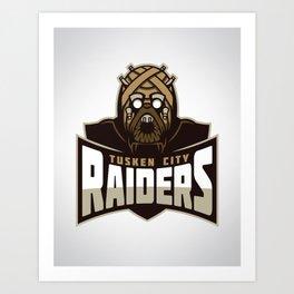 Tusken City Raiders Art Print