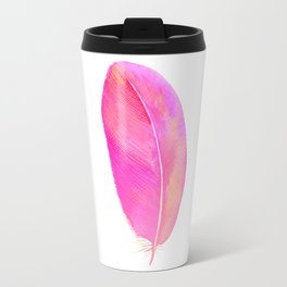 Pink Feather 01 Travel Mug