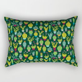 Dark cactus pattern Rectangular Pillow
