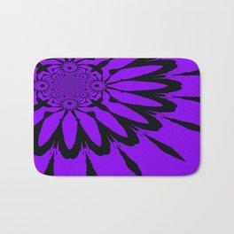 The Modern Flower Purple Bath Mat