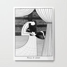 Shakespearean Death Scenes--Romeo and Juliet Metal Print