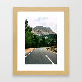 Road to Serra de Tramuntana Framed Art Print