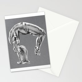 Bend Over Backwards Greyscale Stationery Cards