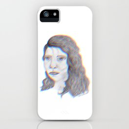 "SERIOUS - pencil illustration ""screen print"" iPhone Case"
