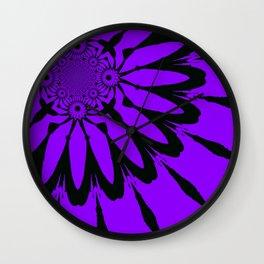 The Modern Flower Purple Wall Clock