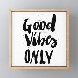 GOOD VIBES ONLY SPLATTER TYPOGRAPHY Framed Mini Art Print