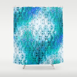 Connectedness (blue) Shower Curtain