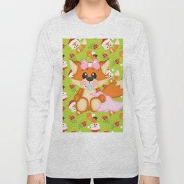 Foxy Christmas Baby Girl Long Sleeve T-shirt