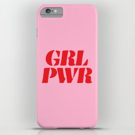Girl Power GRL PWR iPhone Case