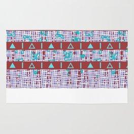 Marsala Tribal Style Fall Print Rug