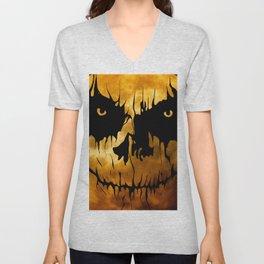 Halloween, Creepy Art, Full Moon Unisex V-Neck