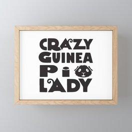 Crazy Guinea Pig Lady Framed Mini Art Print