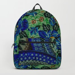 Blue circle pattern poster Backpack