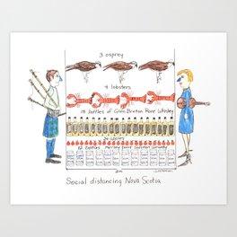Social Distancing Nova Scotia Art Print