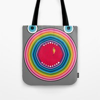 trout Tote Bags featuring Rainbow Trout by Gabriel J Galvan