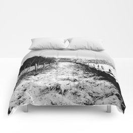 Snowy Country Lane Comforters