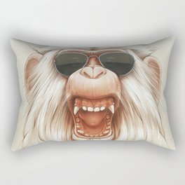 The Great White Angry Monkey Rectangular Pillow