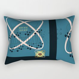 Retro Molecular Jazz Rectangular Pillow