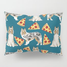Sheltie shetland sheepdog pizza slices cheese pizzas dog breed pet friendly custom dogs Pillow Sham
