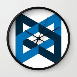 backbone js backbone.js framework developer programming blue triangle Wall Clock