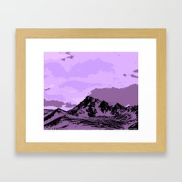 Chugach Mountains - EggPlant Pop Art Framed Art Print