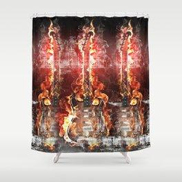 Brennende Gitarre Shower Curtain