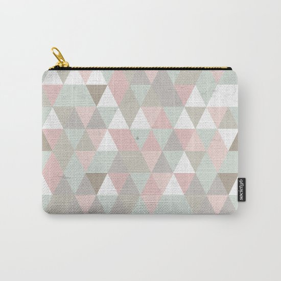 Shabby chic triangles Carry-All Pouch