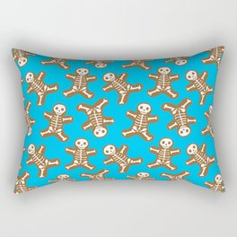 Skeleton Gingerbread Man Pattern Rectangular Pillow