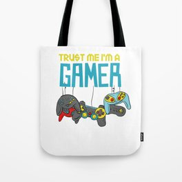 Trust Me I'm A Gamer Videogames Gaming Controller Electric Games Gift Tote Bag