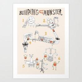 Building a Monster Art Print