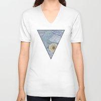 daisy V-neck T-shirts featuring Daisy by sinonelineman