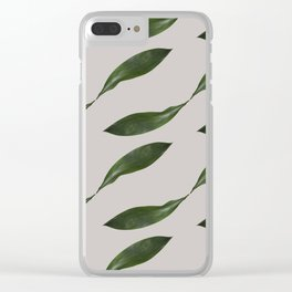 Delicate Retro Leaf Pattern Clear iPhone Case